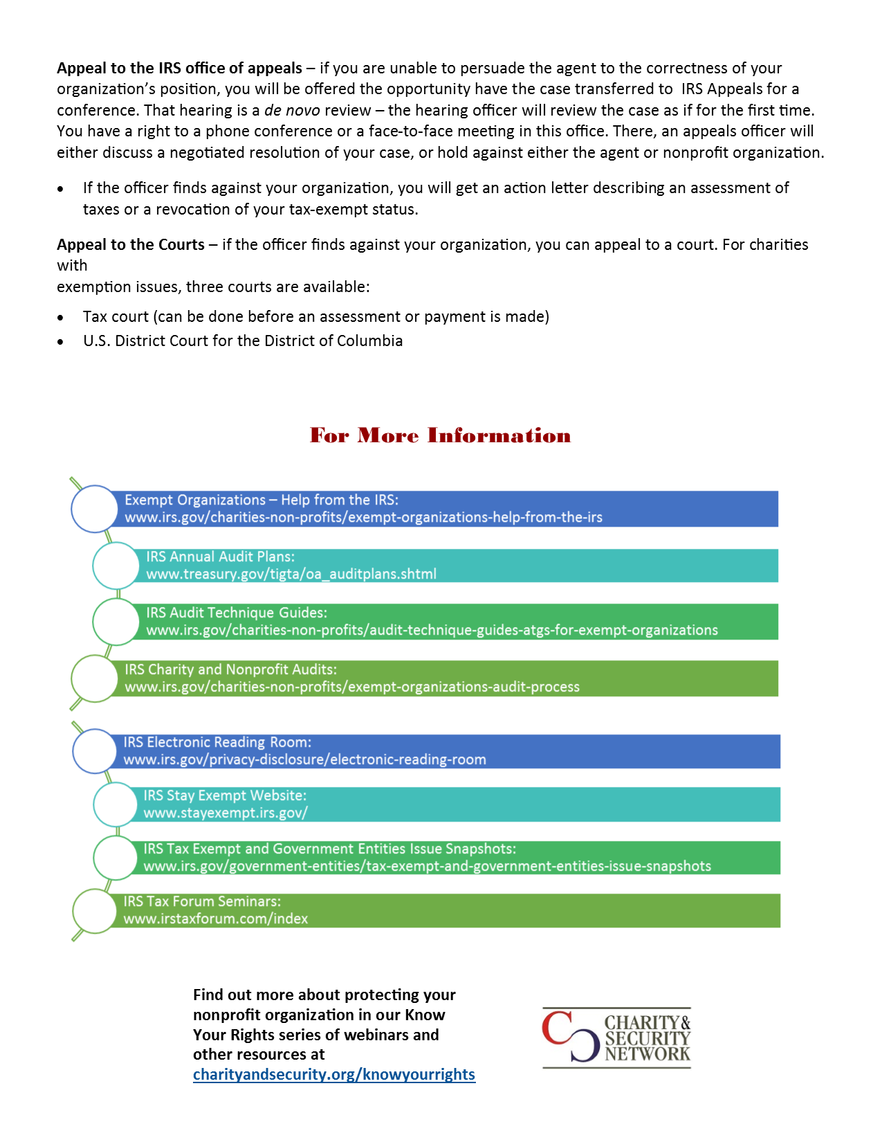 IRS audit guide layout